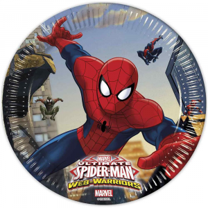 8 PIATTI CM.20 SPIDERMAN WEB-WARRIORS