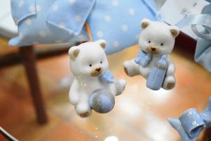 Arcap Orsetto azzurro altezza 5 cm.+ confetti