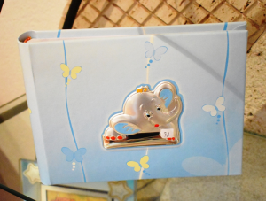 Bimbo Album Portafoto Elefante 16x23 Azzurro