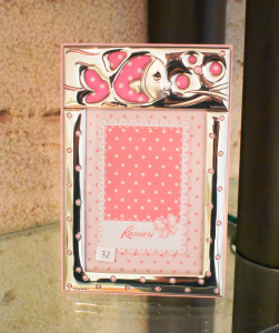 Bimbo Cornice Pesciolino 9x13 Rosa