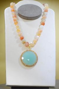 Sikè Jewels: girocollo in argento con ematite , agata e zirconi