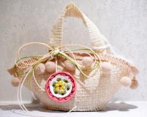 Coffa pon pon beige (confetti vari gusti e tipologie)