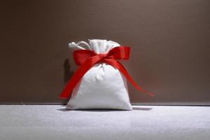 Sacchetto Panna fiocco Rosso (confetti vari gusti e tipologie)