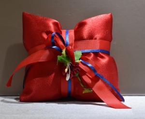 Cuscino Raso rosso (confetti vari gusti e tipologie)