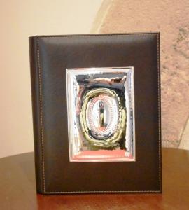 Ranieri Album portafoto marrone Argento 30x25
