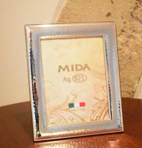 Mida Cornice 13x18 Argento 925 Martellata (lastra piena)