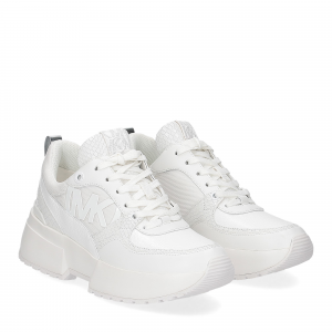 Michael Korsballard trainer canvas optic white