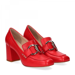 Anna De Bray mocassino accessorio vitello rosso