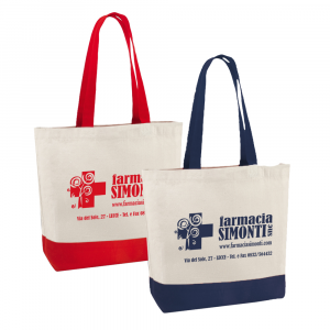 Shopper cotone con tasca interna