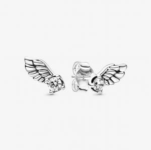 Pandora Orecchini a lobo Ali d'angelo scintillanti