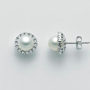 MILUNA-Orecchini con perle e diamanti