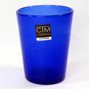 Bicchieri colorati con bollicine Tonga Blu