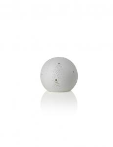 Lampada in porcellana traforata bianca, cometa di Brandani