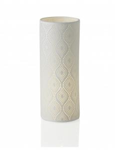 Lampada in porcellana traforata Eclettica H28