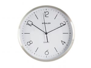 Orologio in alluminio satinato rotondo da 25cm