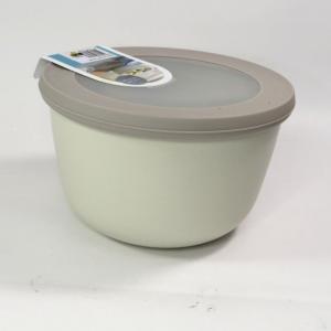 Ciotola con coperchio trasparente 1 litro bianca