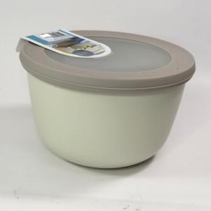 Ciotola con coperchio trasparente 2 litri bianca