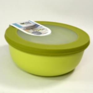 Ciotola bassa con coperchio trasparente 1250ml    gialla