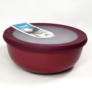 Ciotola bassa con coperchio trasparente 750ml  rossa