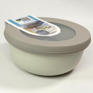 Ciotola bassa con coperchio trasparente 2250ml bianca