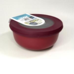 Ciotola bassa con coperchio trasparente 2250ml  rossa