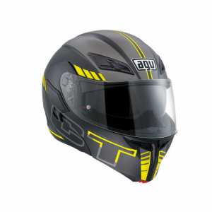Casco AGV Compact Seattle Matt Black/Silver/Yellow-Fluo