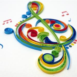 Biglietti augurali in filigrana 'chiave di violino'