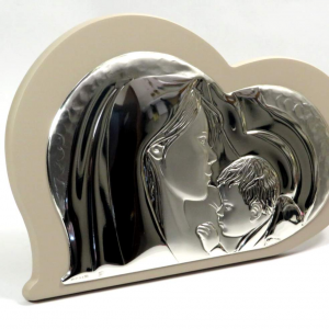 Icona sacra famiglia cuore 27cm