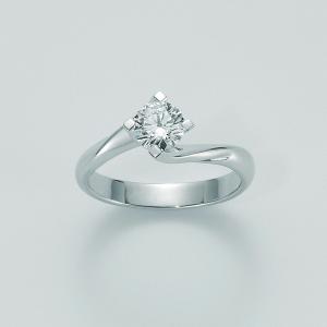 MILUNA-Anello solitario con diamante