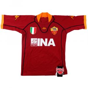 2001-02 Roma Maglia Home M *Nuova