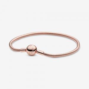 Bracciale Pandora Moments con maglia snake Rose