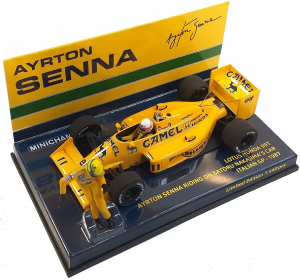 Lotus Honda 99T Ayrton Senna Riding On S. Nakajima's Car Italian GP 1987 1/43