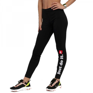 Nike Leggings Just Do It Logo Black da Donna