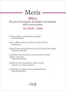 Metis 2020  - Vol. XXVII 1/2020