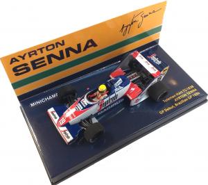 Toleman Hart TG183B Ayrton Senna GP Debut Brazilian GP 1984 1/43