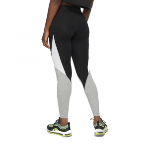 Nike Leggings Swoosh Grey/Black da Donna
