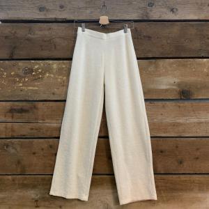 Pantalone American Vintage a Palazzo in Spugna Bianco Perla