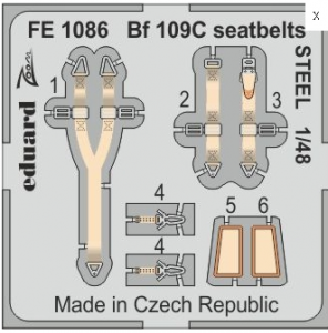 Me 109C seatbelts STEEL (MSVIT)