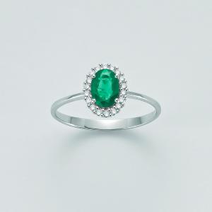 Miluna-Anello con smeraldo e brillanti