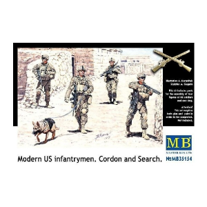 Modern US infantrymen. Cordon and Search