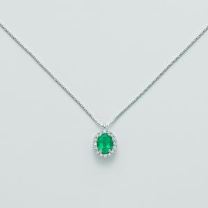 MILUNA-Collana in oro con smeraldo e diamanti