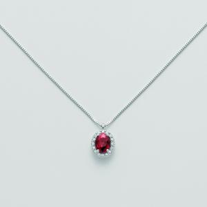 MILUNA-Collana in oro con rubino e diamanti