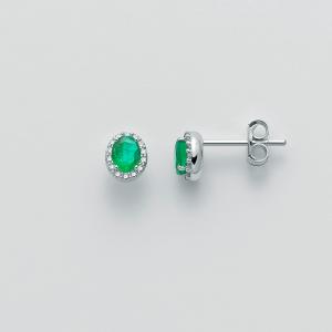 MILUNA-Orecchini con smeraldi e diamanti