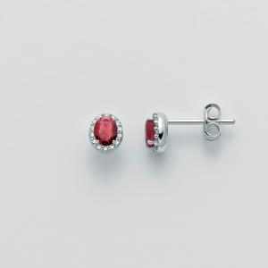 MILUNA-Orecchini con rubini e diamanti
