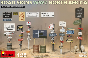 Road Signs North Africa WWII