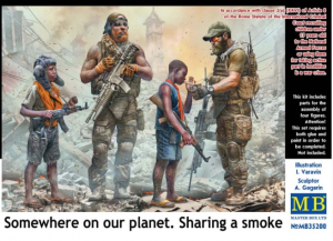 Somewhere on our planet. Sharing a smoke
