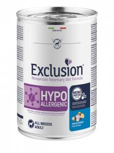EXCLUSION MONOPROTEIN VET DIET  HYPOALLERGENIC PESCE E PATATE ALL BREEDS 400gr