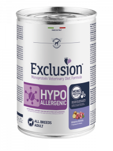 EXCLUSION MONOPROTEIN VET DIET  HYPOALLERGENIC CINGHIALE E PATATE ALL BREEDS 400gr