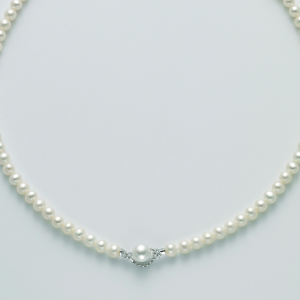 MILUNA-Collana di perle con diamanti