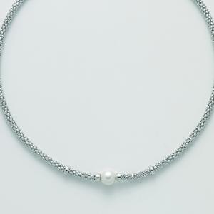 MILUNA-Collana in argento con perle